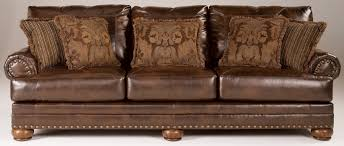 Antique Leather Sofa Furniture Features Infinite Positions For Comfort With Durablend