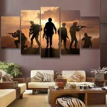 Posters For Living Room by Popular Sunset Soldiers 5 Piece Canvas Buy Cheap Sunset Soldiers 5