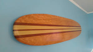 surfboard wall hanging art 6 ft solid wood vintage