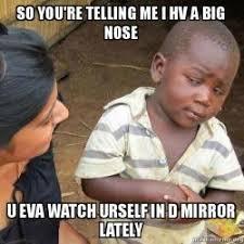 Big Nose Meme - so you re telling me i hv a big nose u eva watch urself in d mirror