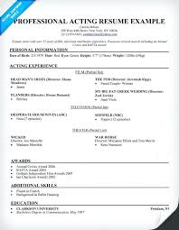 sample acting resume for beginners acting resume sample related