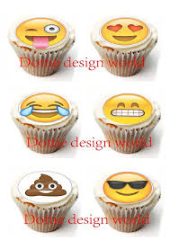 Edible Cake Decorating Paper 24 Emojis Edible Cake Topper Wafer Rice Paper For Cake Decoration