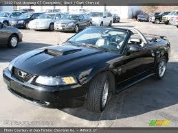 2002 Black Mustang Black 2002 Ford Mustang Gt Convertible Dark Charcoal Interior