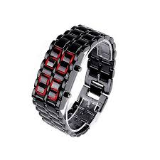 mens bracelet digital images Buy samurai led digital and metal strap men 39 s watch black jpg