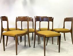 mid century italian dining chairs 1950s set of 6 for sale at pamono