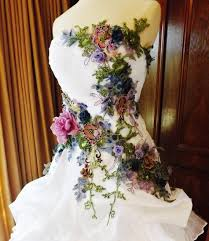multi color wedding dress made to order wedding dress white multicolor