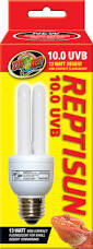 Zoo Med Light Fixture by Zoo Med Reptisun 10 0 Uvb Compact Fluorescent Mini Reptile Lamp