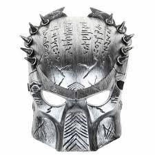 unique mardi gras cool predator masquerade masks props silver