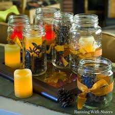 mason jar home decor ideas five fun fall decorating ideas running with sisters