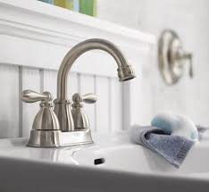 Moen Caldwell Tub Faucet Shop Moen Caldwell Spot Resist Brushed Nickel 2 Handle 4 In