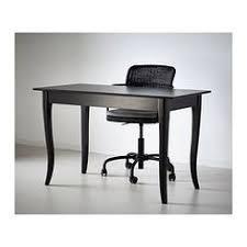 bureau ikea noir møbler og interiør til hele hjemmet desks solid wood and drawers
