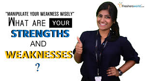 list of strengths and weaknesses interview u2013 profesional resume