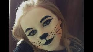 halloween kitty face cat face makeup tutorial kitty cat halloween makeup tutorial