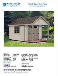 porch blueprints 14 x 10 cabin loft backyard shed with porch blueprints material