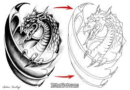 blacklight dragon tattoo design photos pictures and sketches