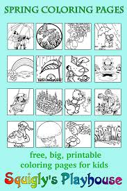 spring coloring pages at squigly u0027s playhouse