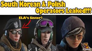 south korean u0026 polish operator leaked rainbow six siege youtube