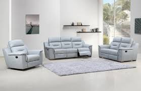 Recliners Sofa Sets Grey Leather Recliner Living Room