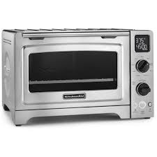 Kitchenaid Kettle And Toaster Kitchenaid 1 Cubic Foot Stainless Steel Convection Countertop Oven