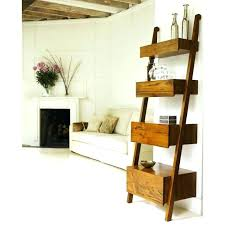 bookcase monarch specialties ladder bookcase with two storage