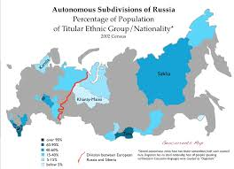 russia map after division siberia is more russian than european russia geocurrents