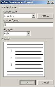 a quick way to create a list of sequential numbers in word