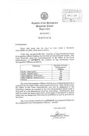 Letter Of Intent Tagalog by Invitation To Apply For The Position Of Court Decongestion Officer