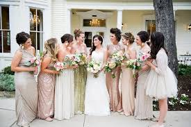 rent bridesmaid dresses wedding at the allan house gold color scheme wedding and