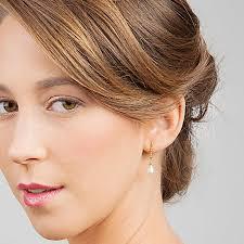 bridesmaid pearl earrings teardrop bridal earrings ivory pearl earrings pearl bridal