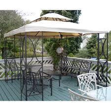 menards gazebo replacement canopy garden winds