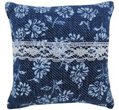navy blue lace ribbon tooth fairy pillow navy blue floral print fabric white lace
