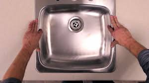 RONA How To Install A Kitchen Sink YouTube - Fitting a kitchen sink