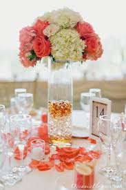 coral flowers for wedding centerpieces wedding corners