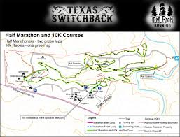 Austin Marathon Map by Texas Switchback 10k Course
