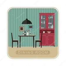 dining room interior u2014 stock vector bolotoff 100311454