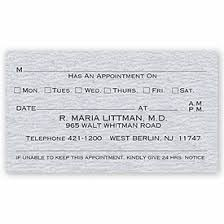 Laid Business Cards Appointment Cards Laid Finish Stock One Sided Appointment
