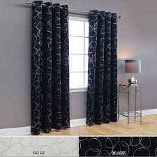 Black Blackout Curtains Amazon Com Best Home Fashion Flower Foil Printed Thermal