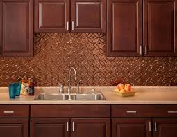 Copper Backsplash  Images About Copper Kitchen Backsplashes On - Copper backsplash