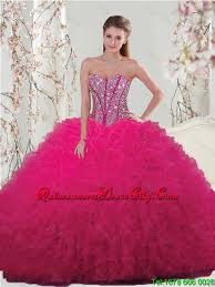 quinceanera pink dresses pretty sweetheart beaded and ruffles detachable quinceanera
