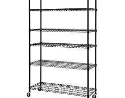 Kitchen Storage Shelving Unit - shelving amazing storage shelves on wheels d 6 shelf steel wire