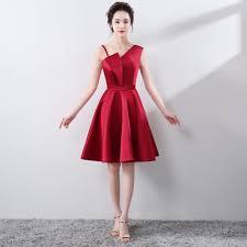 aliexpress com buy dark red prom dress plus size knee length