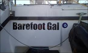 diy boat name lettering the boat galley