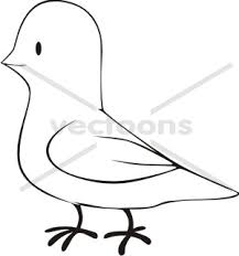 cartoon dove sketch style bird animals buy clip art buy