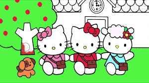 hello kitty coloring page 2 little hands coloring book youtube
