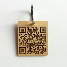 unique key ring personalised unique qr code keyring by auntie mims