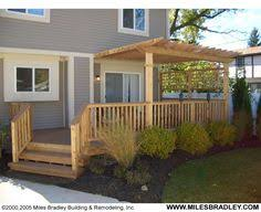 Deck Pergola Ideas by Raised Deck Designed With Lattice Skirting Mosquito Curtains And