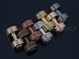 solid metal bracelet images Solid metal dumbbell stripe style bracelet necklace connector jpg