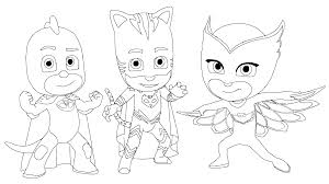 pj masks coloring pages get coloring pages