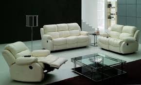 Leather Reclining Sofa Set Free Shipping Modern Design Luxury 1 2 3 Modern Reclining Sofas