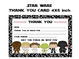 wars thank you cards wars thank you card wars thank you by happydayscreation